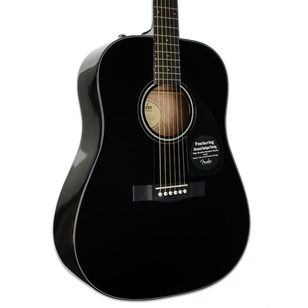 FENDER CD-60 BLACK WITH CASE