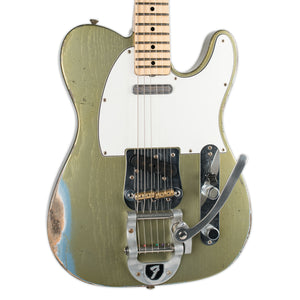 FENDER CUSTOM SHOP 69 TELECASTER RELIC WITH BIGSBY MASTERBUILT BY CARLOS LOPEZ GREEN TINTED IBM