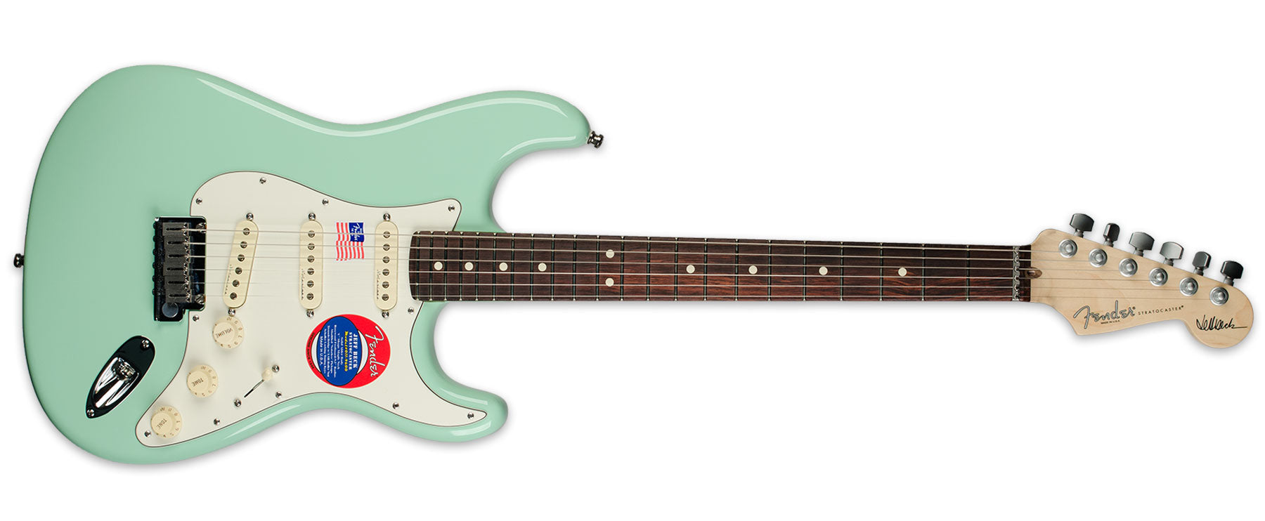 FENDER JEFF BECK SIGNATURE STRATOCASTER SEAFOAM GREEN