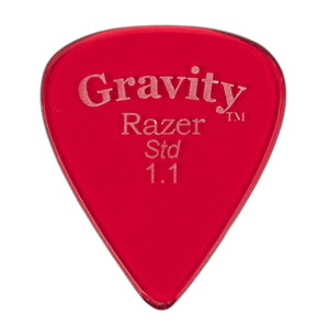 GRAVITY PICKS RAZER STANDARD, Bulk, 1.1mm