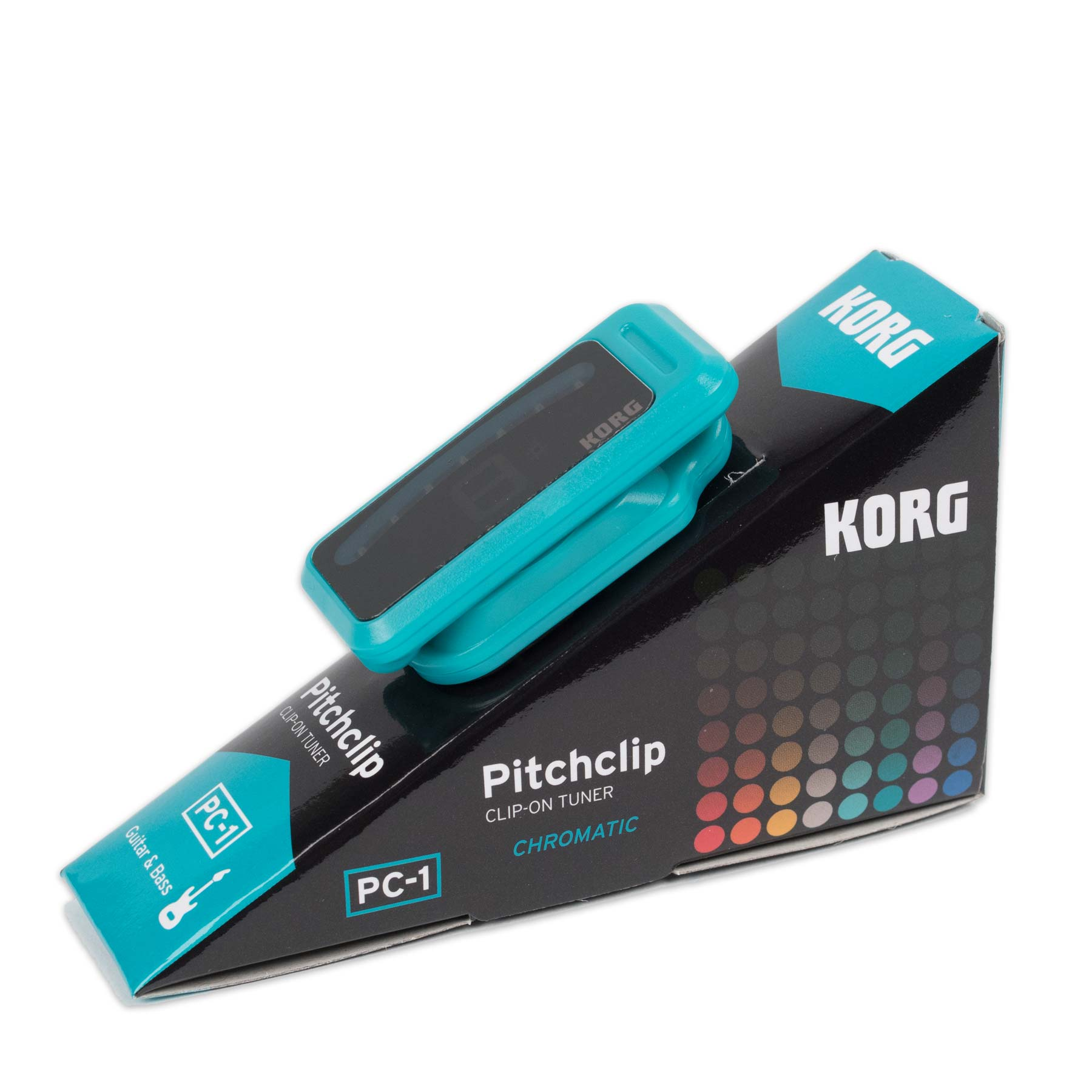 KORG PITCHCLIP CLIP ON CHROMATIC TUNER - EMERALD GREEN