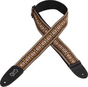 "LEVY'S 2"" 60'S HOOTENANNY JACQUARD WEAVE GUITAR STRAP WITH POLYPROPYLENE BACKING - PATTERN 20"