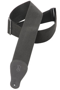 "LEVY'S 3"" POLYPROPYLENE GUITAR STRAP BLACK"