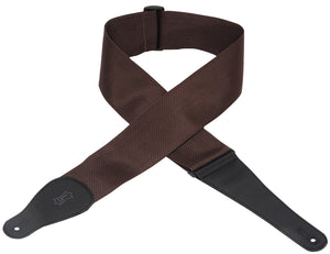"LEVY'S M8P3-BRN 3"" POLYPROPYLENE GUITAR STRAP BROWN"