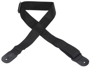 "LEVY'S 2"" POLYPROPYLENE GUITAR STRAP BLACK"