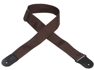 "LEVY'S 2"" POLYPROPYLENE GUITAR STRAP BROWN"