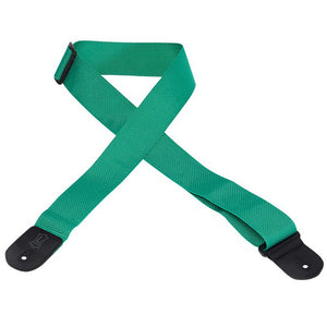 "LEVY'S 2"" POLYPROPYLENE GUITAR STRAP GREEN"