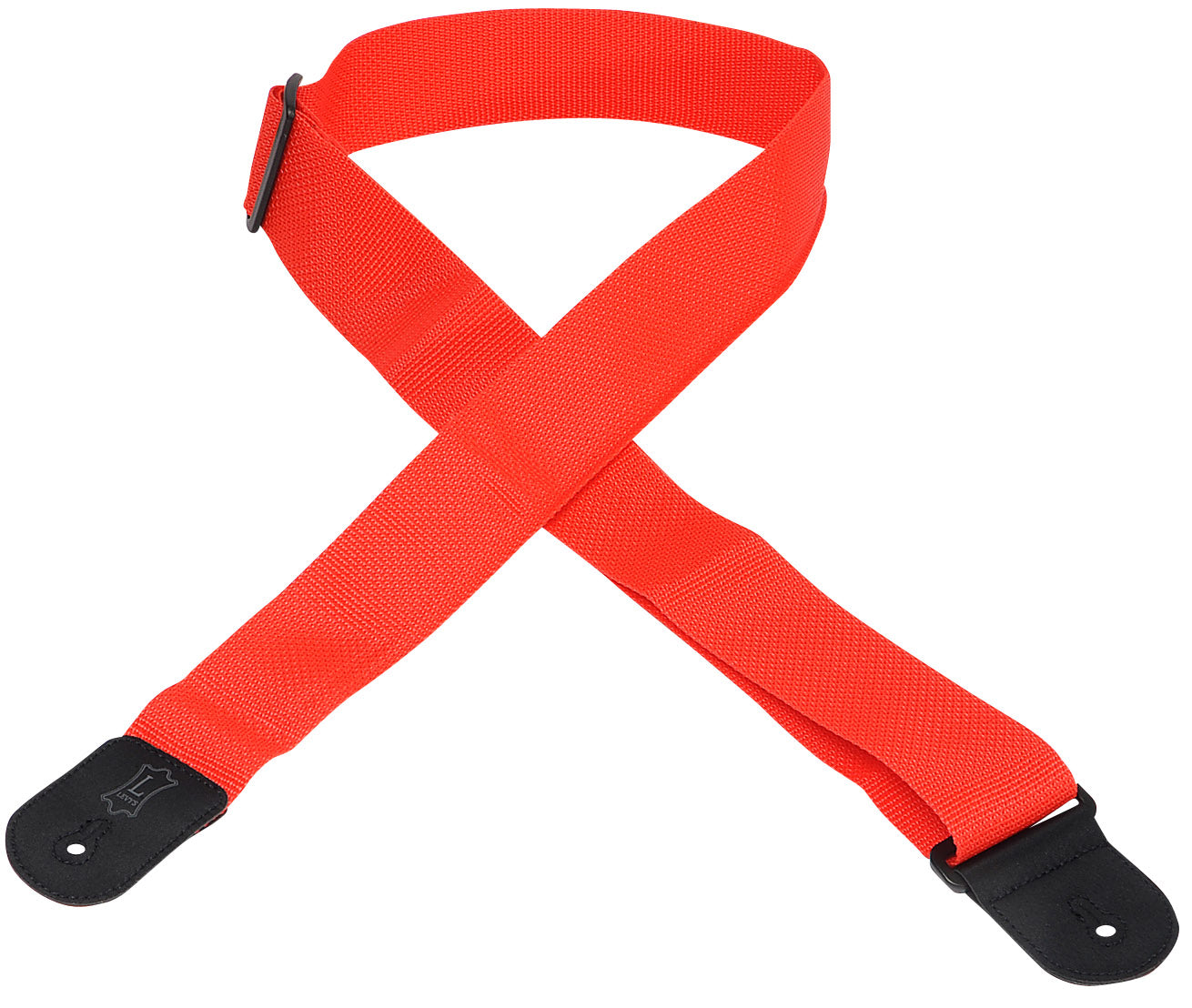 "LEVY'S M8POLY-RED 2"" POLYPROPYLENE GUITAR STRAP RED"