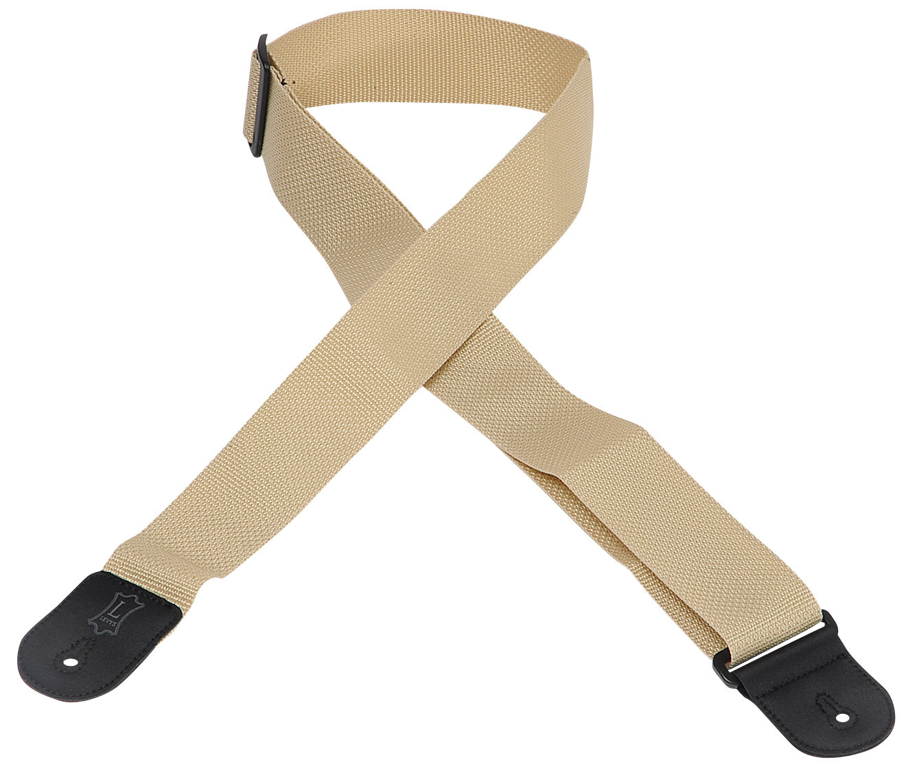 "LEVY'S 2"" POLYPROPYLENE GUITAR STRAP TAN"