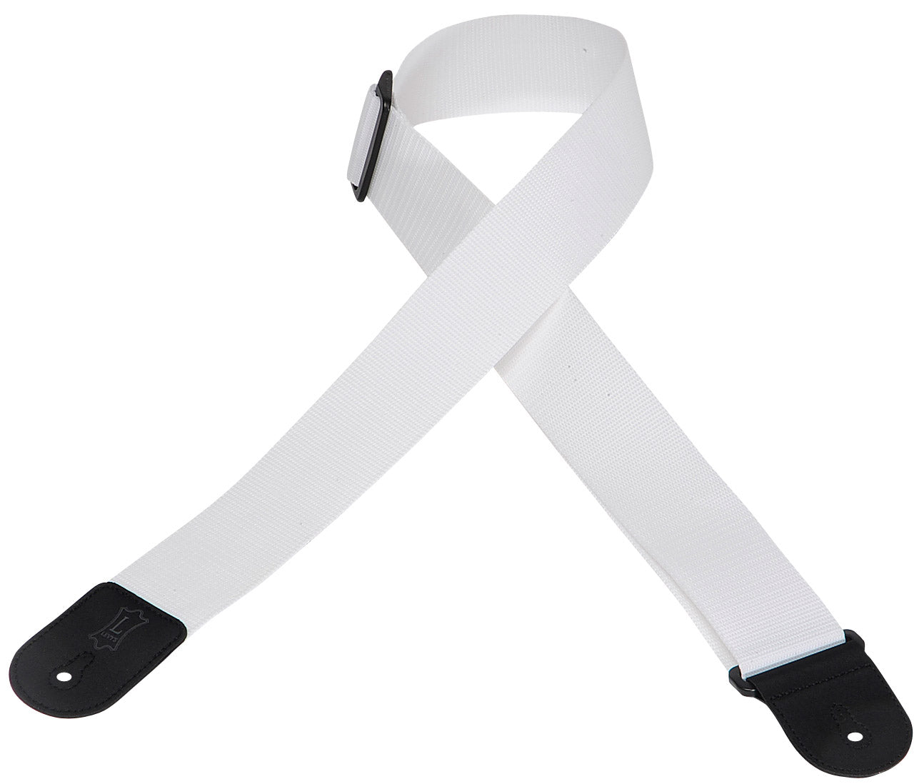 "LEVY'S 2"" POLYPROPYLENE GUITAR STRAP WHITE"