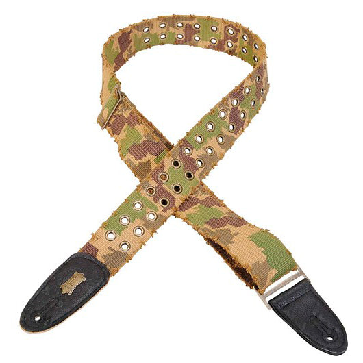 "LEVY'S 2"" TEAR-WEAR COTTON STRAP WITH BRASS EYELETS - CAMO"