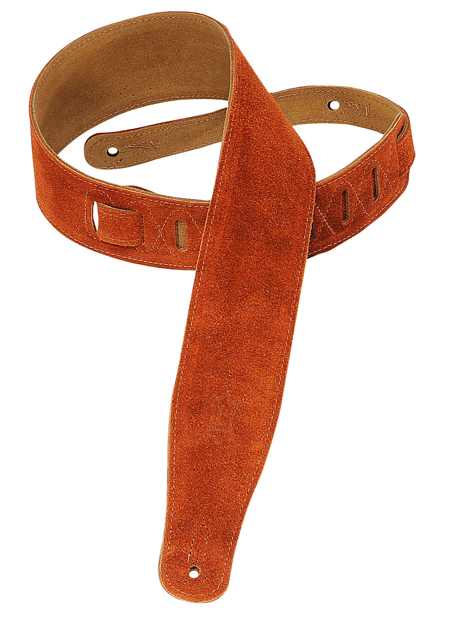 "LEVY'S 2.5"" SUEDE GUITAR STRAP COPPER"