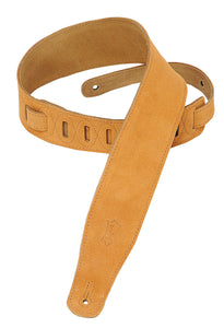 "LEVY'S 2.5"" SUEDE GUITAR STRAP HONEY"