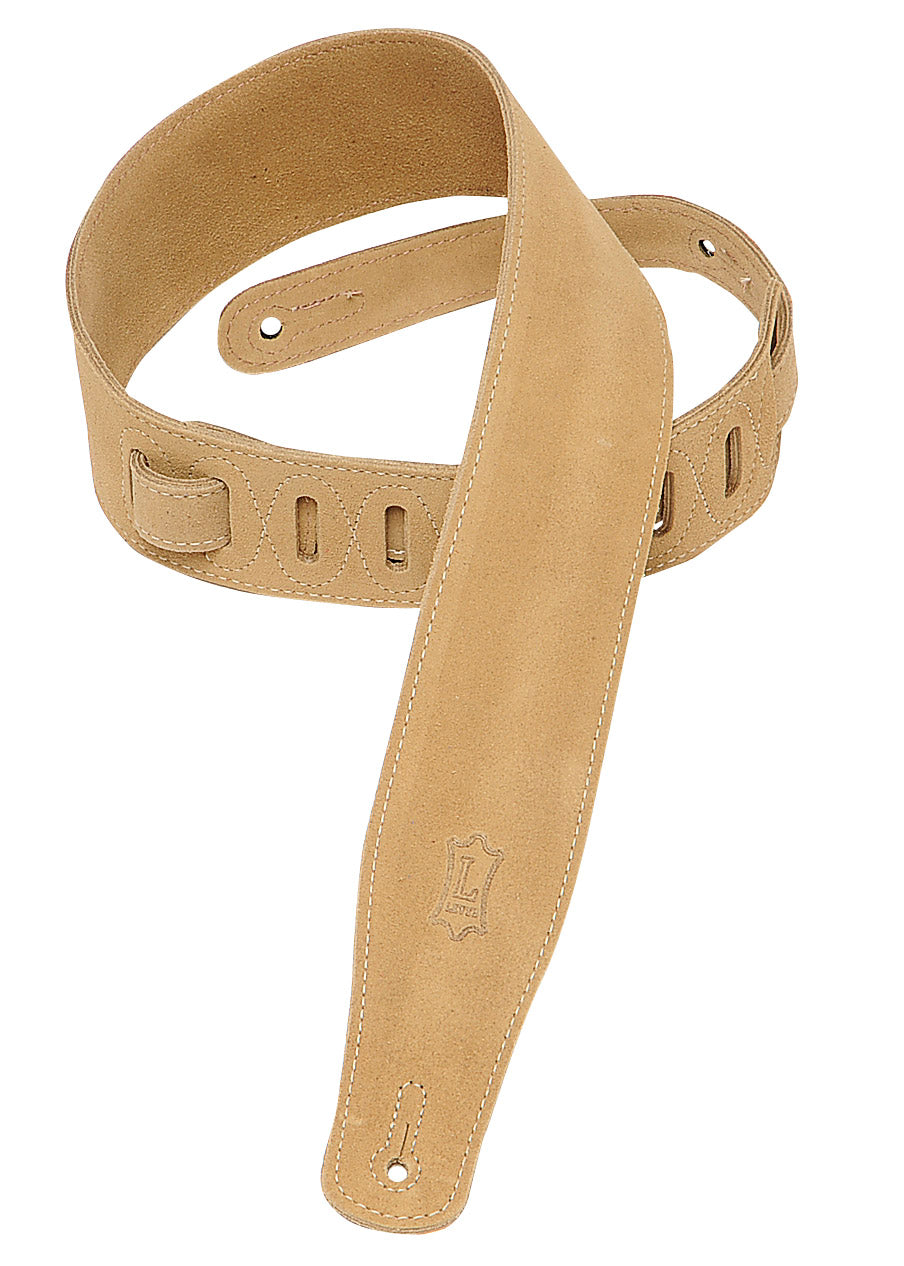 "LEVY'S 2.5"" SUEDE GUITAR STRAP SAND"