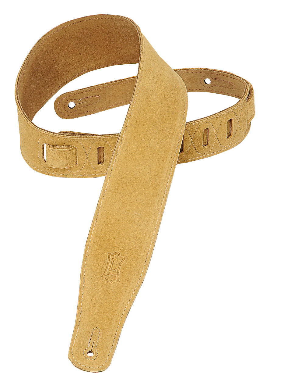"LEVY'S 2.5"" SUEDE GUITAR STRAP TAN"