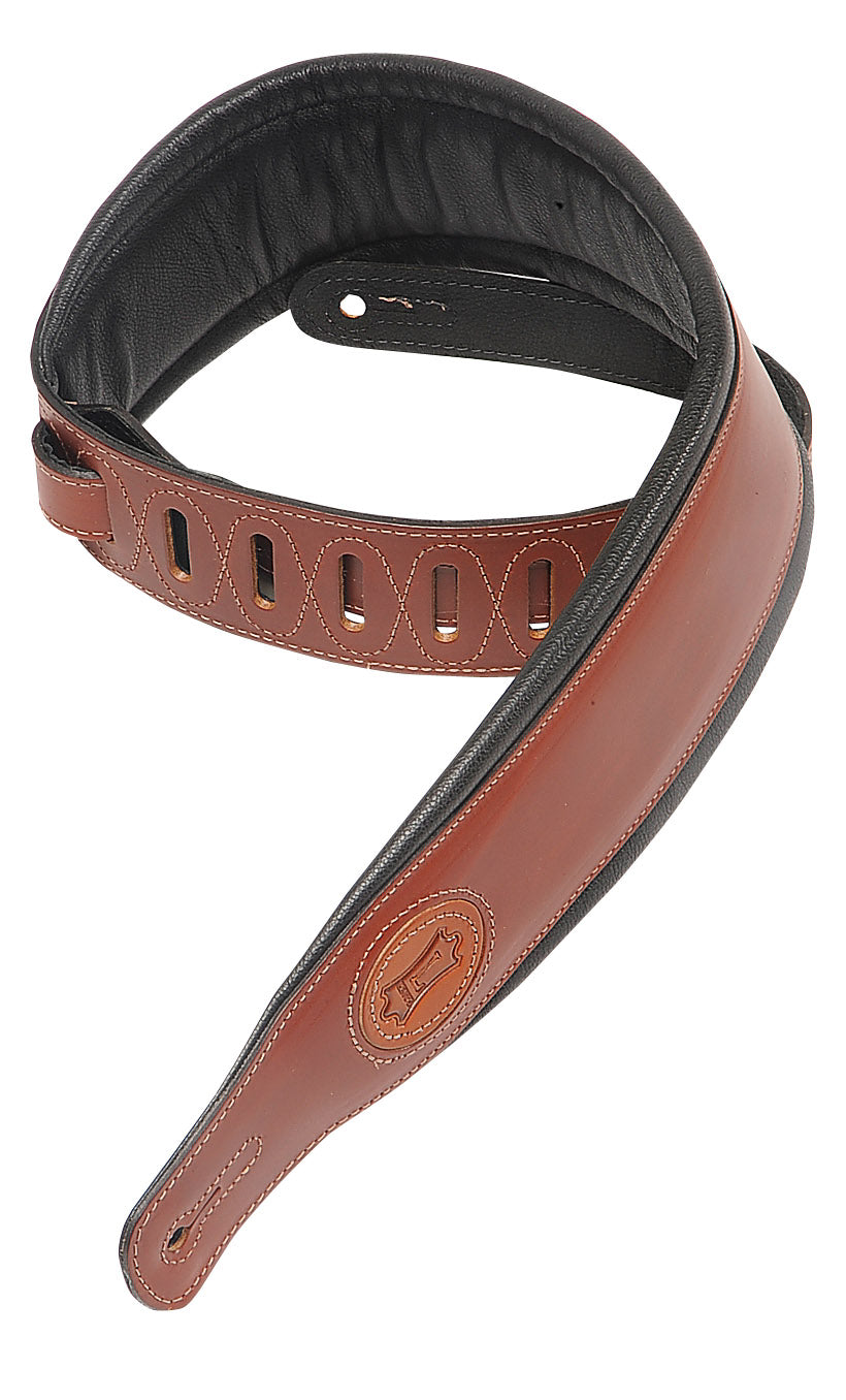 "LEVY'S 2 1/2"" SIGNATURE SERIES VEG-TAN LEATHER WITH FOAM PADDING AND GARMENT LEATHER BACK WALNUT"