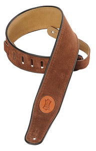 "LEVY'S 2 1/2"" SIGNATURE SERIES SUEDE STRAP BROWN"