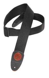 "LEVY'S 2"" SIGNATURE SERIES POLYPYLENE GUITAR STRAP - BLACK"