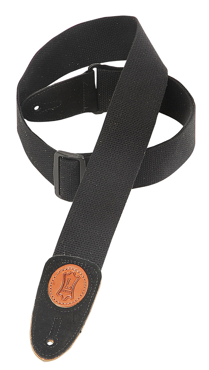 "LEVY'S MSSC8-BLK 2"" SIGNATURE SERIES COTTON STRAP - BLACK"