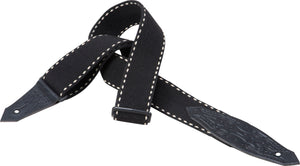 "LEVY'S 2"" HEAVY WOOLEN GUITAR STRAP- BLACK"