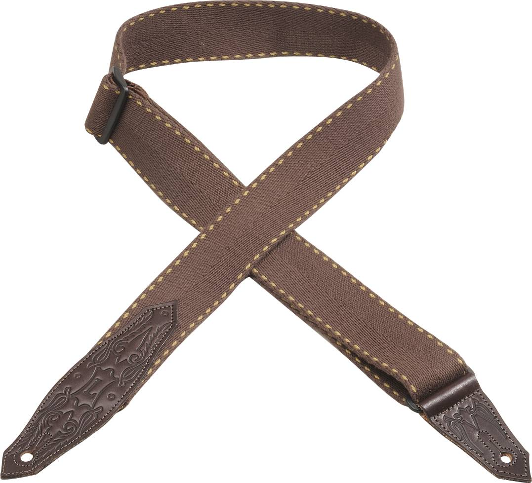 "LEVY'S 2"" HEAVY WOOLEN GUITAR STRAP- BROWN"