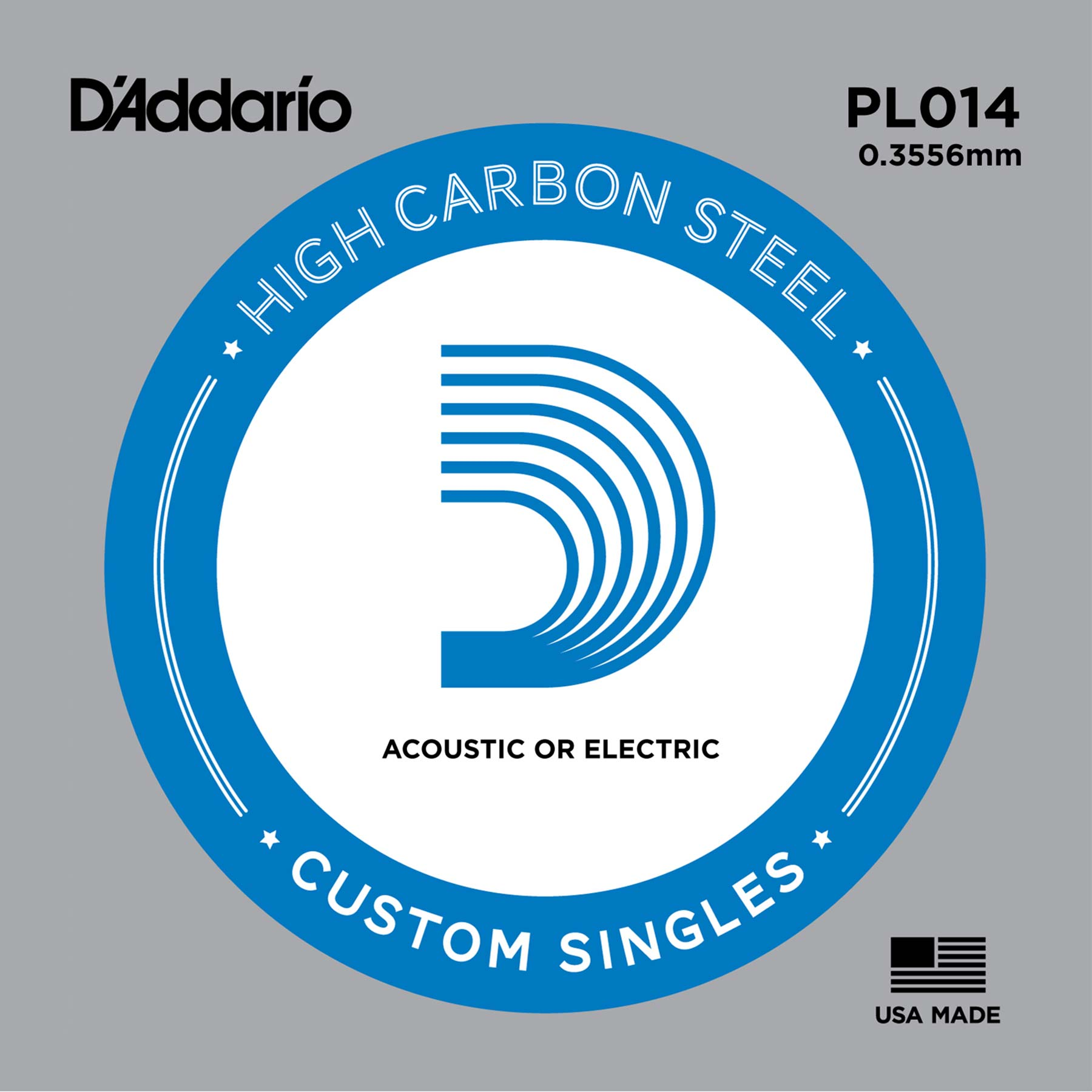 D'ADDARIO PLAIN STEEL GUITAR STRING 014