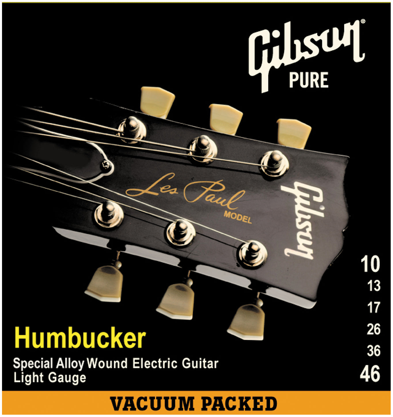 GIBSON HUMBUCKER STRINGS SPECIAL ALLOY WOUND LIGHT 10-46