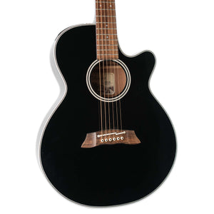 USED TAKAMINE EF261SBL BLACK MADE IN JAPAN WITH CASE