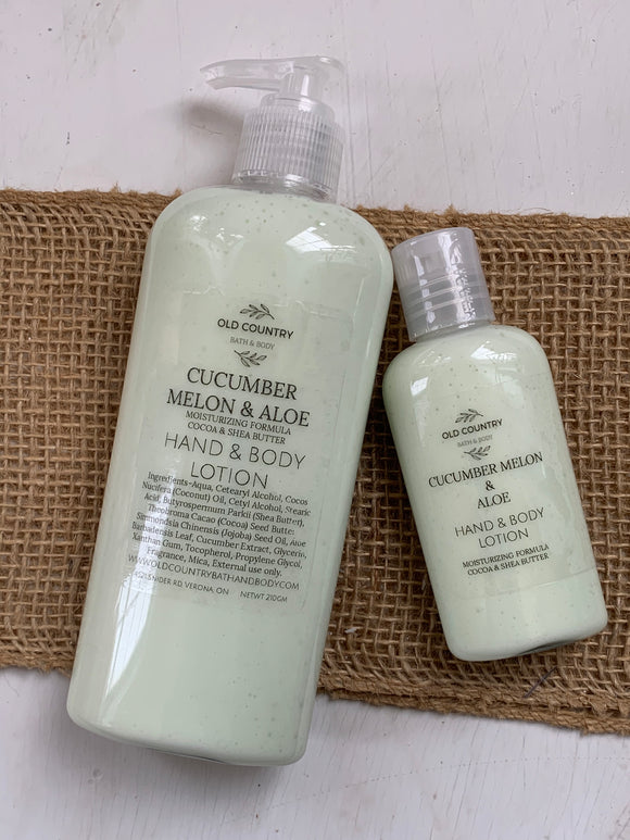 Cucumber melon and aloe Hand & Body Lotion