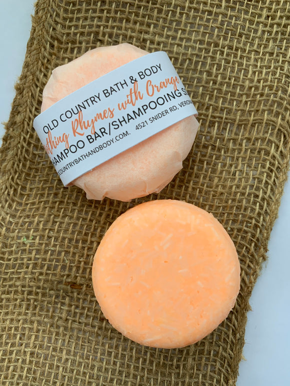 Nothing rhymes with orange solid shampoo bar