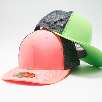 Wholesale PB222 Pit Bull Neon Cambridge Trucker Hat Cap