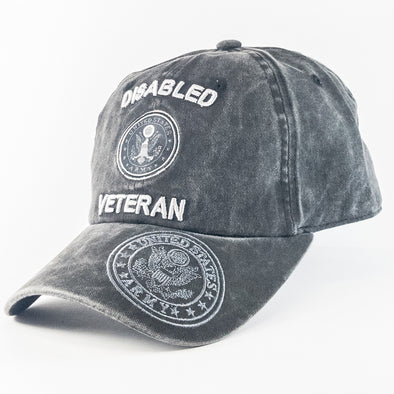 MI489 Disabled Veteran Military Caps Wholesale [Multi Color]