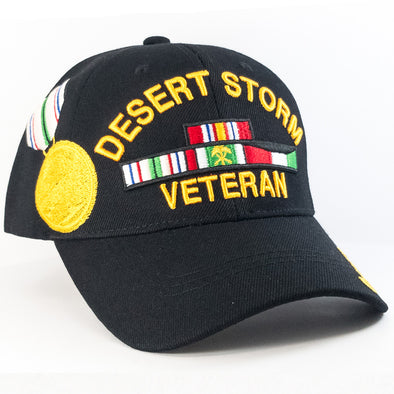 MI234 Desert Storm Veteran Military Caps Wholesale [Black]