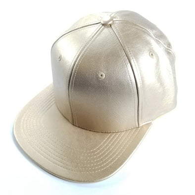 PB158 Pit Bull Leather Snapback Hats  [Gold]