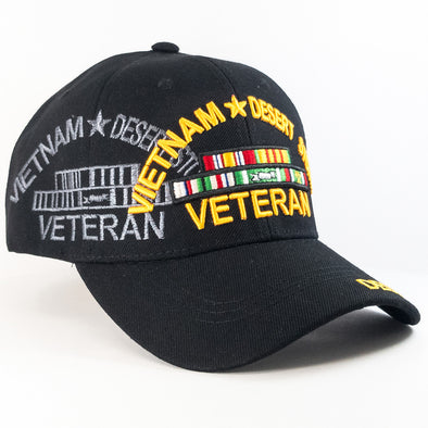 MI220 Vietnam Desert Storm Veteran Military Caps Wholesale [Black]