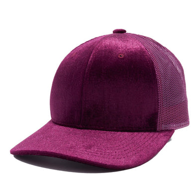 PB233R Pit Bull Cambridge Velvet Trucker Hat[Wine]