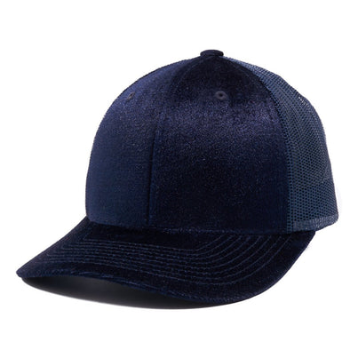 PB233R Pit Bull Cambridge Velvet Trucker Hat[Navy]
