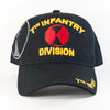 MI217 7Th Infantry Division Military Caps Wholesale [Black]