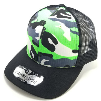 PB251 Pit Bull Cambridge 6 Panel Camo Trucker [N.Green Camo/Black]