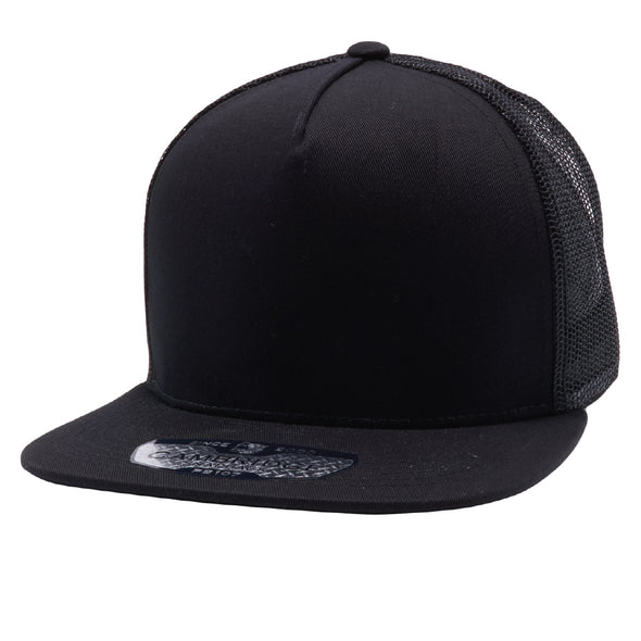 PB108 Pit Bull 5 Panel Cotton Trucker Hats [Black]