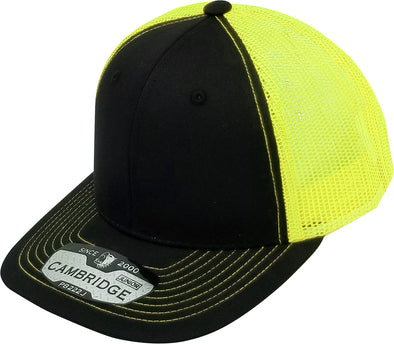 PB222J Pit Bull Cambridge  KIds Trucker Hat [Black/N.Yellow]