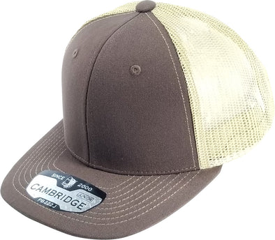 PB222J Pit Bull Cambridge  KIds Trucker Hat [Brown/Khaki]