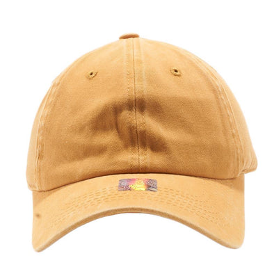 PIT BULL Blank Unstructured Pigment Dyed Dad Hats Wholesale and Custom Mustard