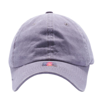 PIT BULL Blank Unstructured Pigment Dyed Dad Hats Wholesale and Custom Grey