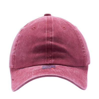 PIT BULL Blank Unstructured Pigment Dyed Dad Hats Wholesale and Custom Burgundy