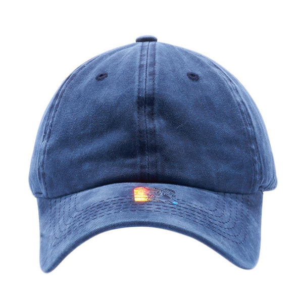 PIT BULL Blank Unstructured Pigment Dyed Dad Hats Wholesale and Custom Navy