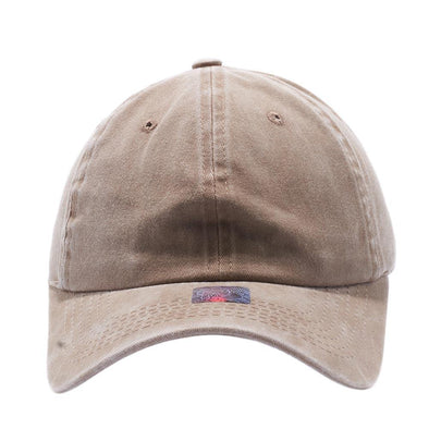 Blank Unstructured Pigment Dyed Dad Hats Wholesale and Custom Khaki