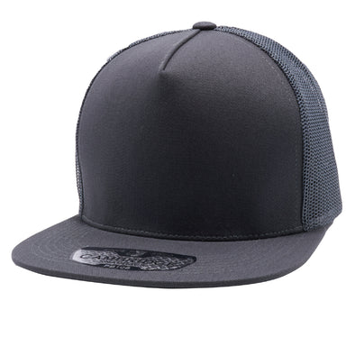 Pit Bull 5 Panel Cotton Trucker Hats Wholesale [Charcoal]