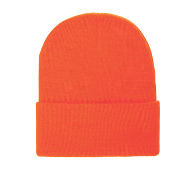 PB179  Pit Bull Cuffed Knit Beanie Hats [N.Orange]