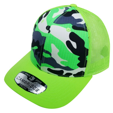 PB251 Pit Bull Cambridge 6 Panel Camo Trucker [N.Green Camo]